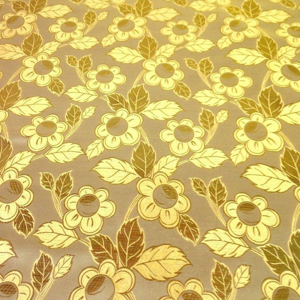 Daisy Metallic Brocade Fabric Fabric