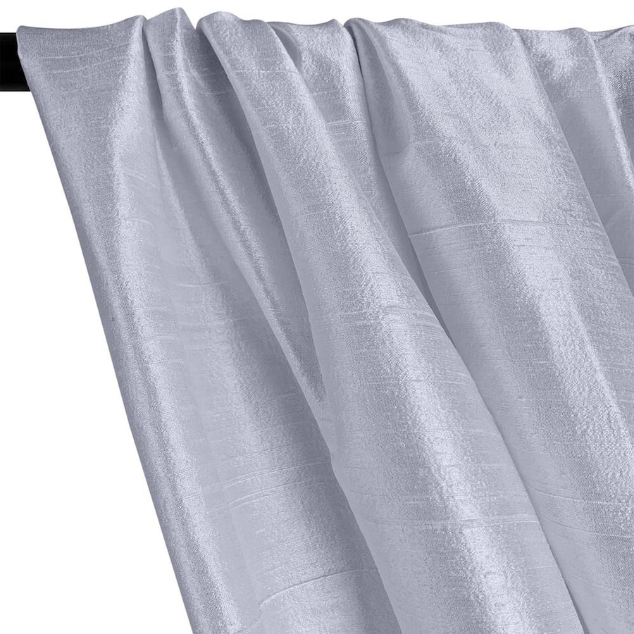 "Silk Dupioni (54"") Rod Pocket Curtains -  Ice Blue"