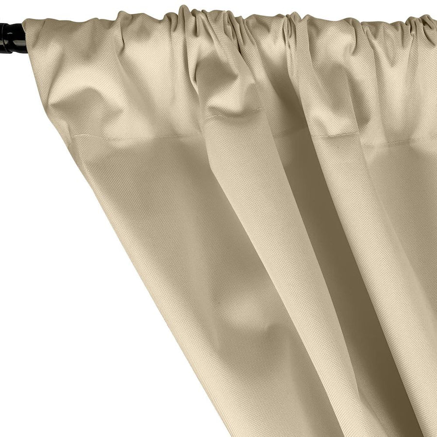 Ottertex® Canvas Waterproof Rod Pocket Curtains - Ivory