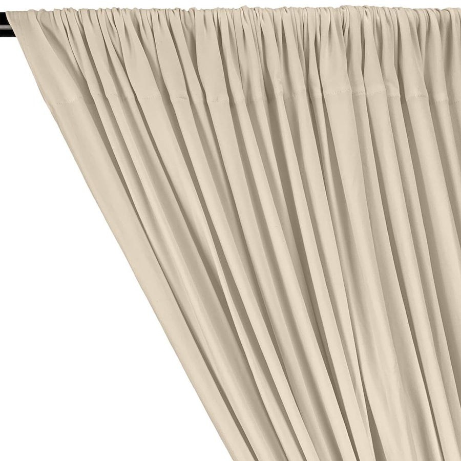 DTY Double-Sided Brushed Rod Pocket Curtains - Ivory