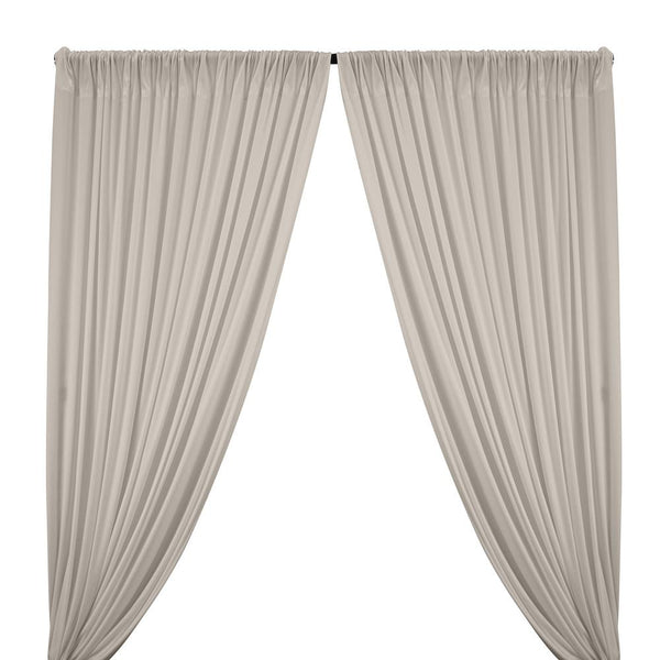 Interlock Knit Rod Pocket Curtains - Ivory