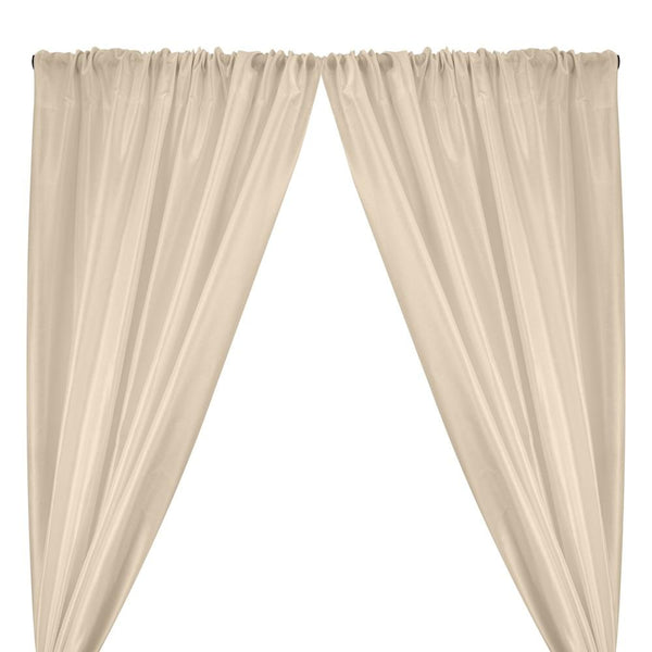 Polyester Dupioni Rod Pocket Curtains - Ivory 102