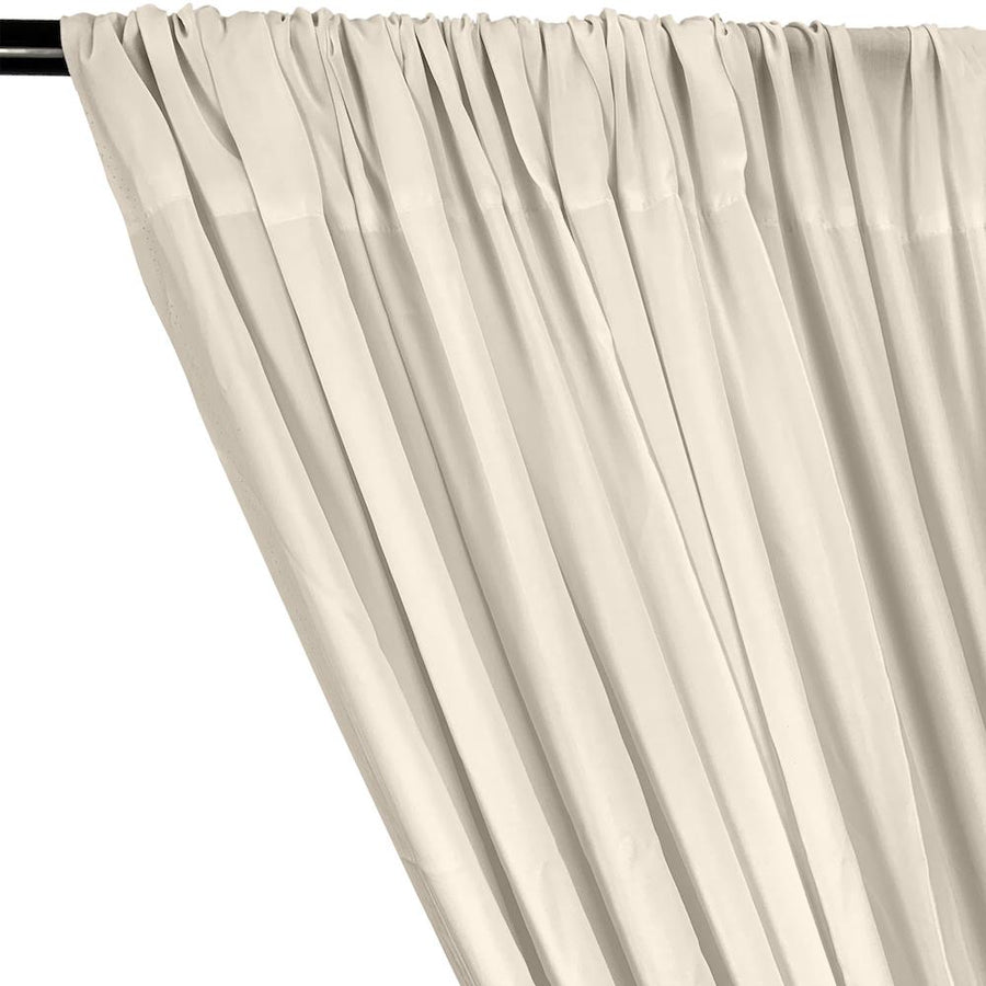 Rayon Challis Rod Pocket Curtains - Ivory
