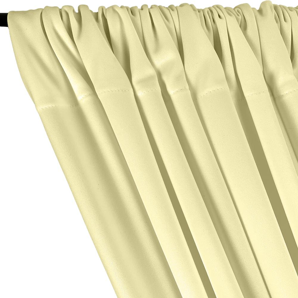 Scuba Double Knit Rod Pocket Curtains -  Ivory