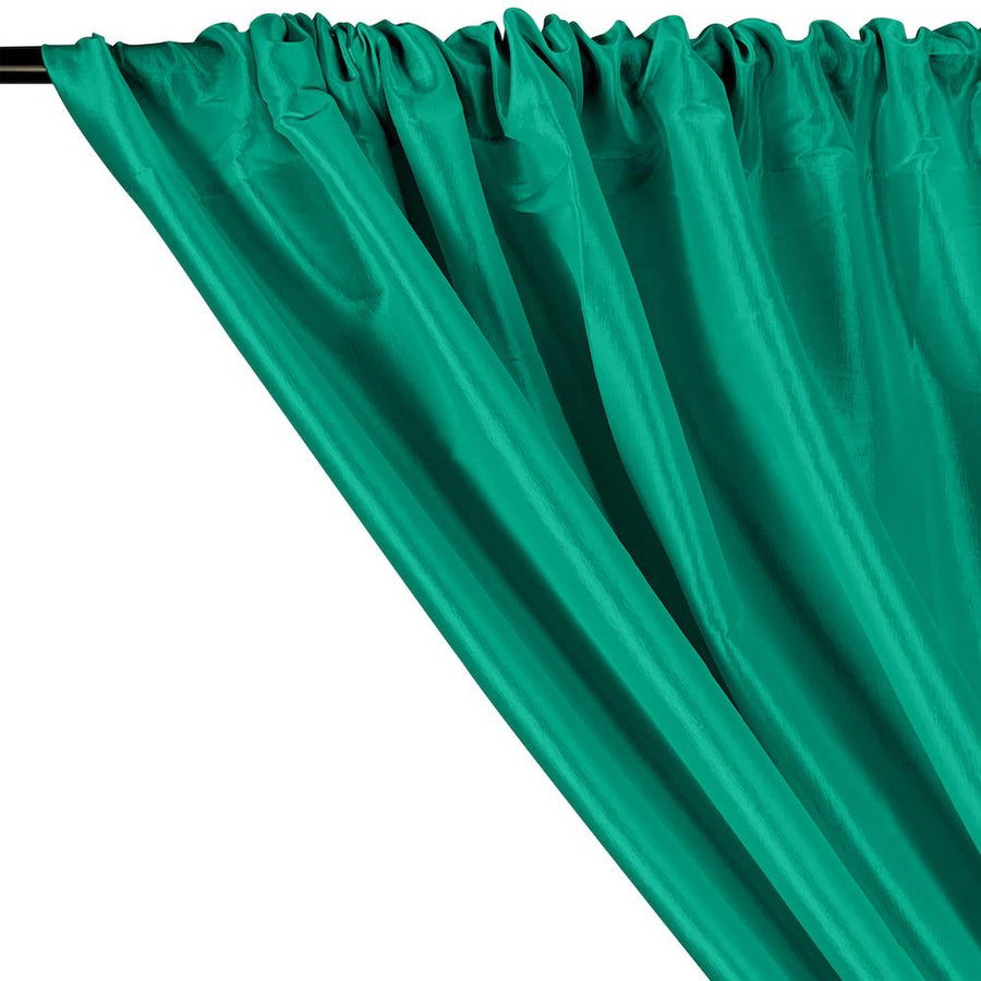 Stretch Taffeta Rod Pocket Curtains - Jade