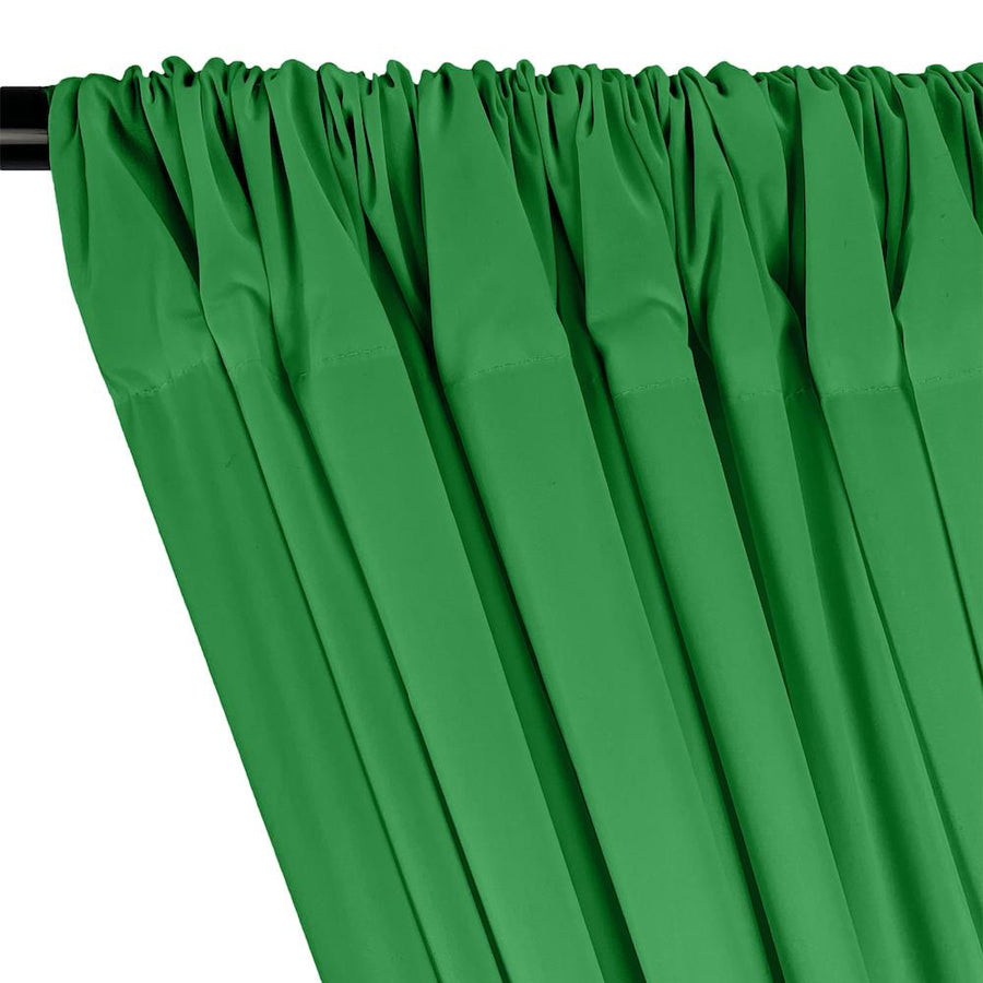 100% Cotton Broadcloth Rod Pocket Curtains - Kelly Green