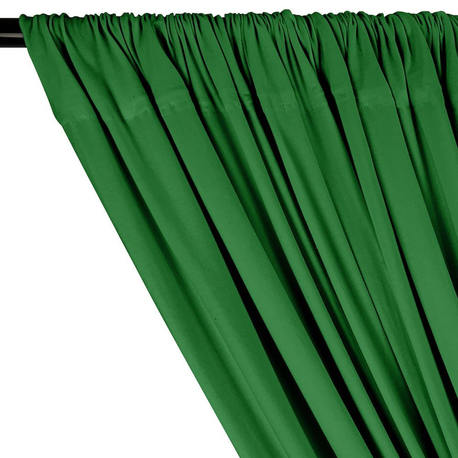 Cotton Jersey Rod Pocket Curtains - Kelly Green