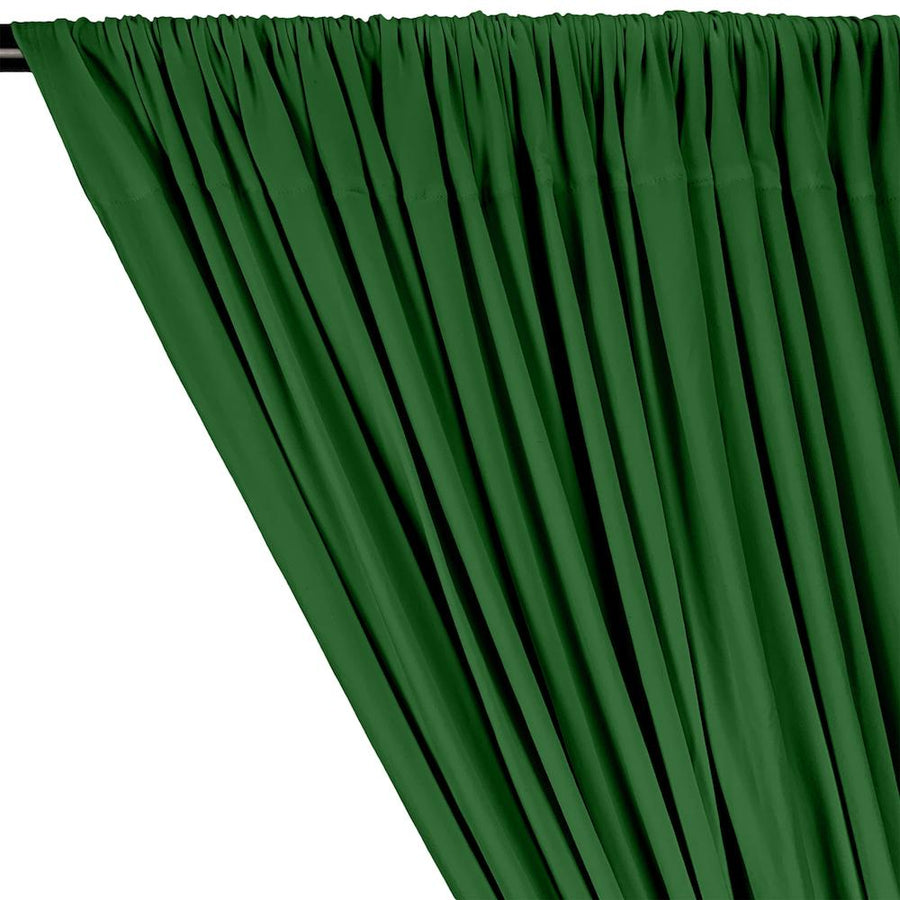 DTY Double-Sided Brushed Rod Pocket Curtains - Kelly Green