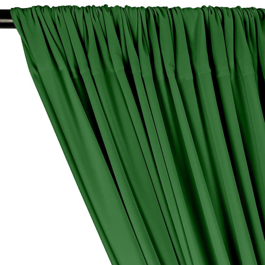 ITY Knit Stretch Jersey Rod Pocket Curtains - Kelly Green