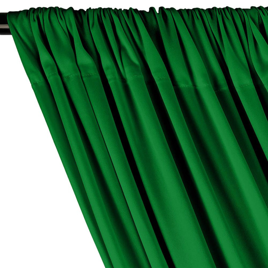 Interlock Knit Rod Pocket Curtains - Kelly Green