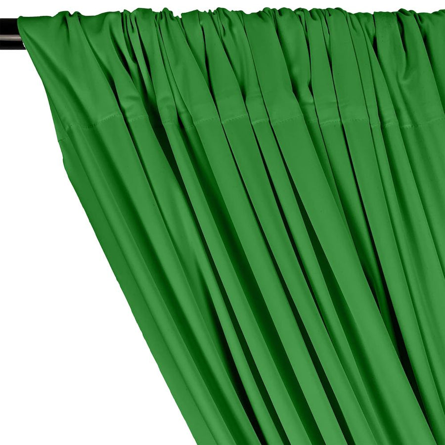 Matte Milliskin Rod Pocket Curtains - Kelly Green