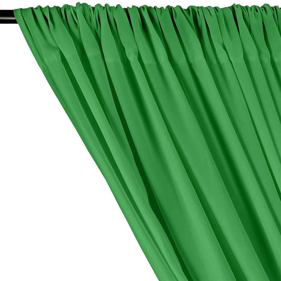 Peachskin Rod Pocket Curtains - Kelly Green