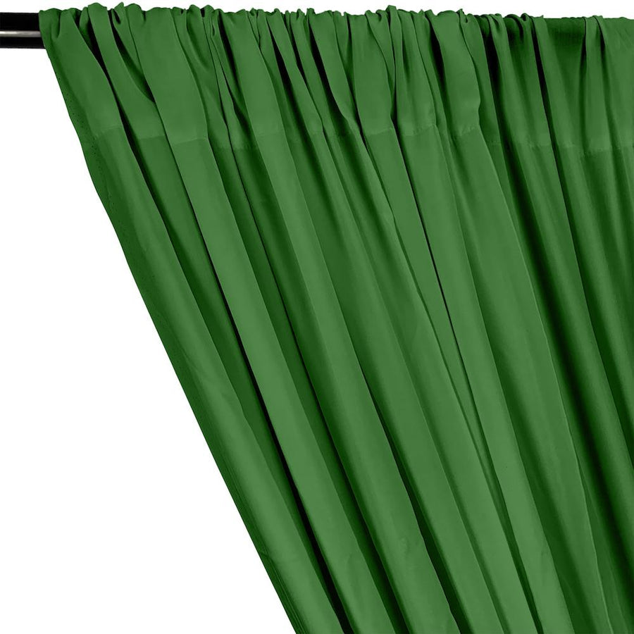 Rayon Challis Rod Pocket Curtains - Kelly Green