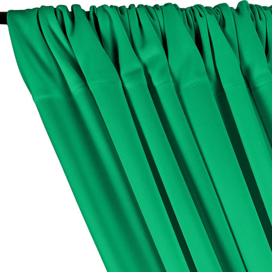 Scuba Double Knit Rod Pocket Curtains - Kelly Green