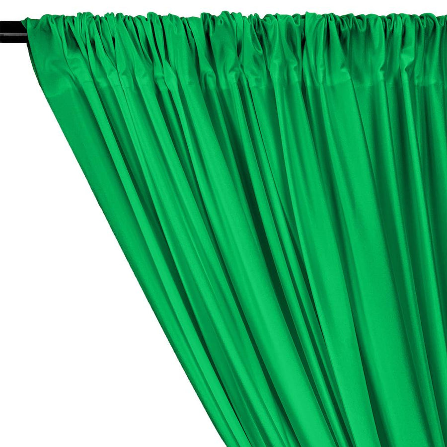 Shiny Milliskin Rod Pocket Curtains - Kelly Green