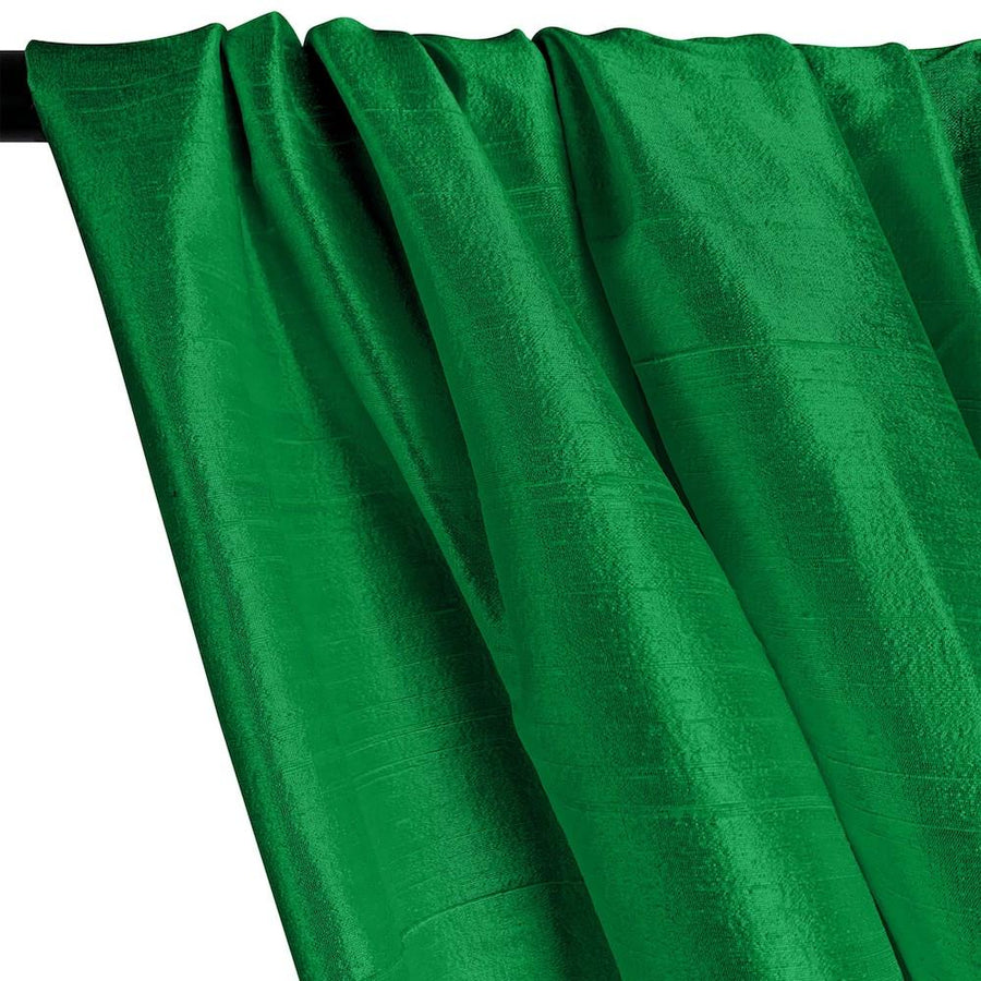 "Silk Dupioni (54"") Rod Pocket Curtains -  Emerald Green"