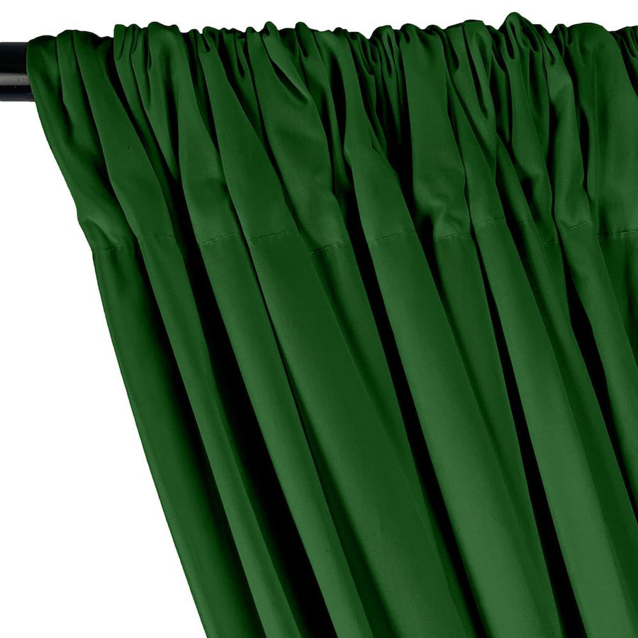 Stretch Broadcloth Rod Pocket Curtains - Kelly Green