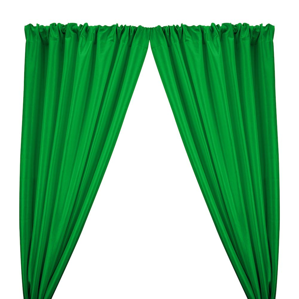 Stretch Taffeta Rod Pocket Curtains - Kelly Green