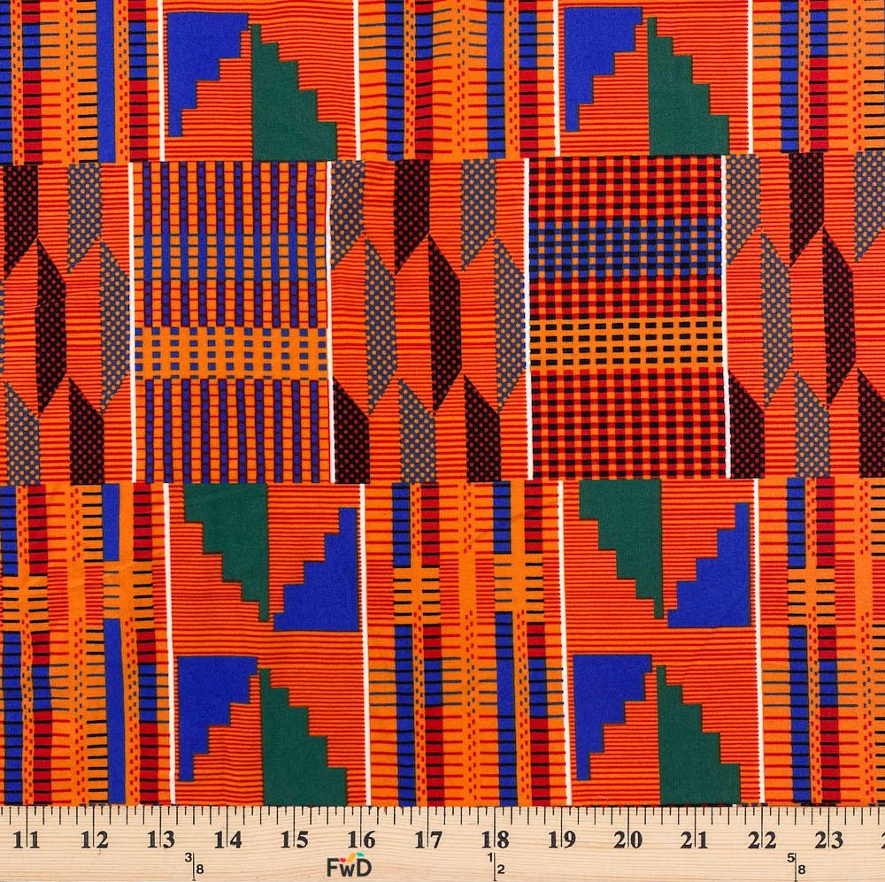 Kente African Print DTY Brushed (3-4)