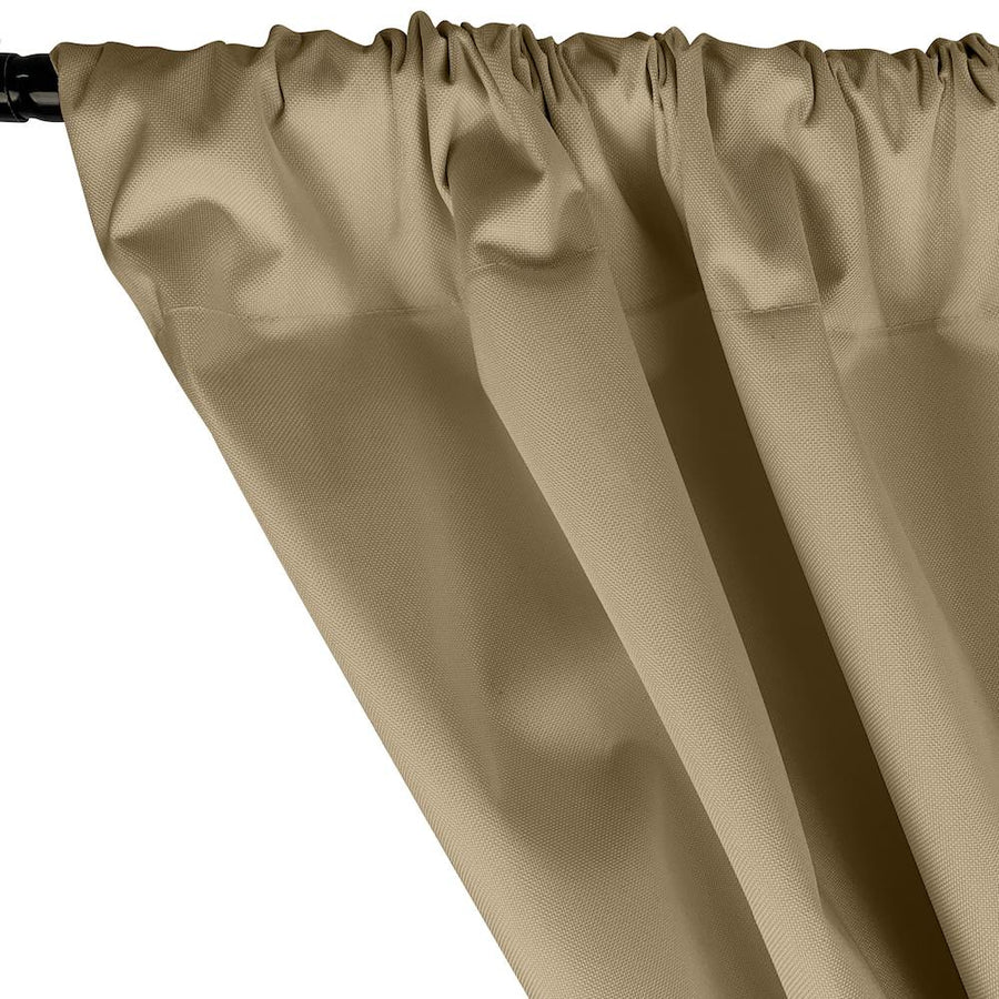 Ottertex® Canvas Waterproof Rod Pocket Curtains - Khaki