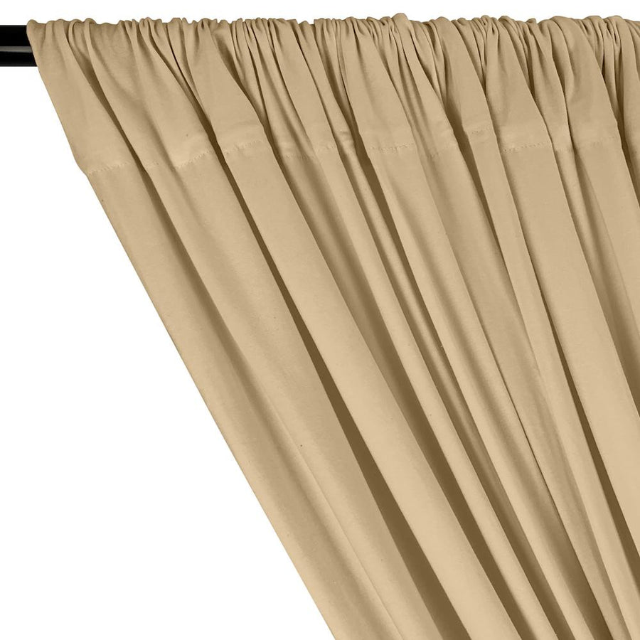 Cotton Jersey Rod Pocket Curtains - Khaki