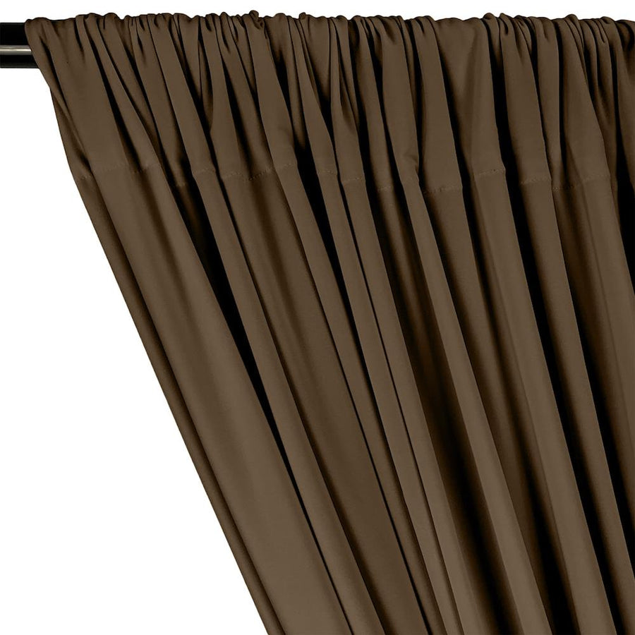 ITY Knit Stretch Jersey Rod Pocket Curtains - Khaki