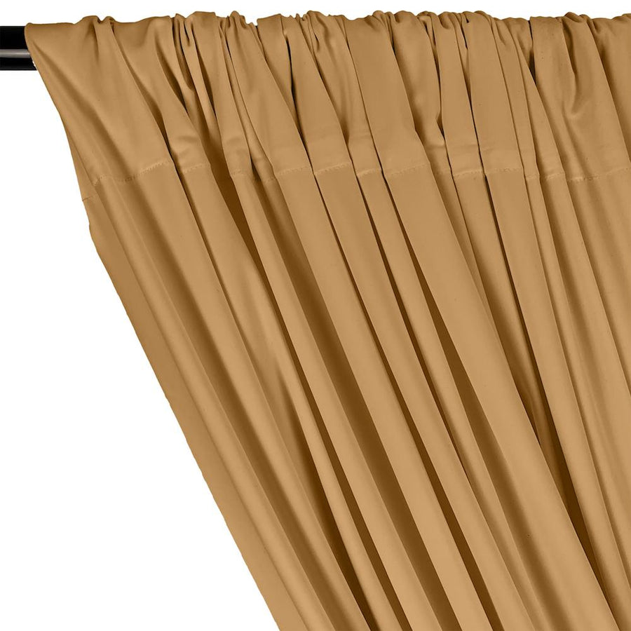 Matte Milliskin Rod Pocket Curtains - Khaki