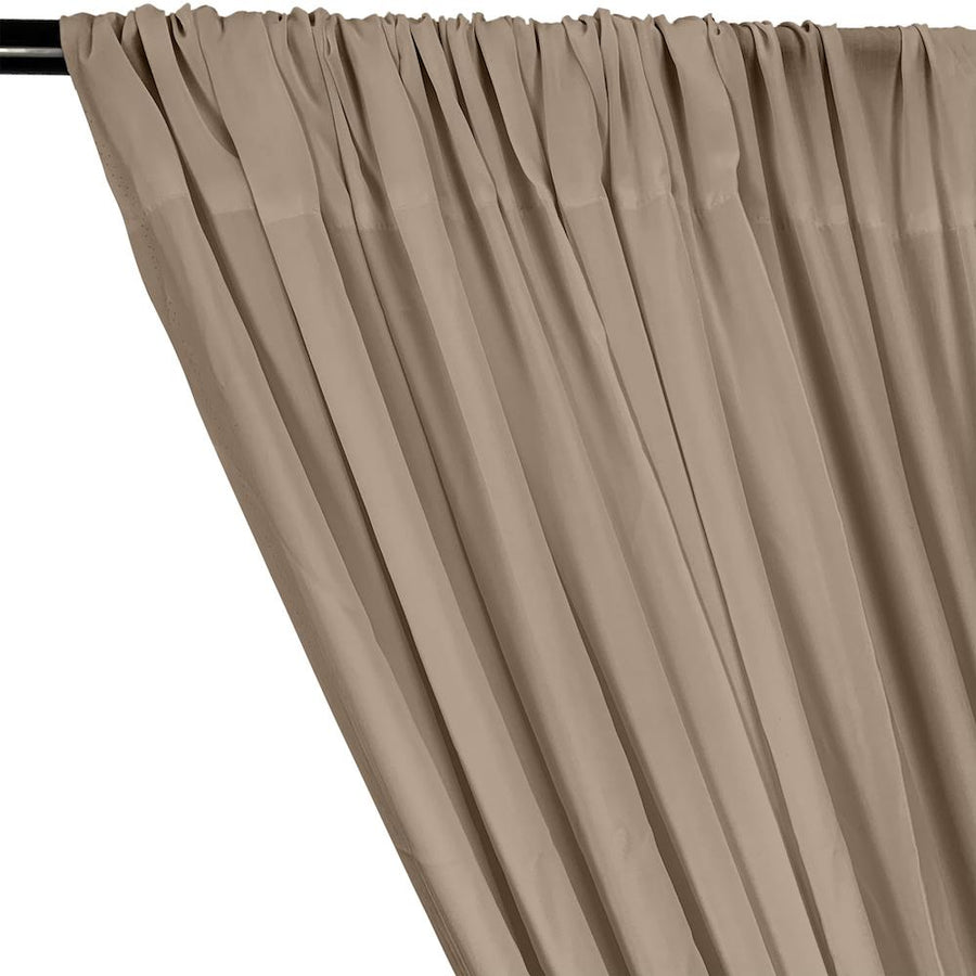 Rayon Challis Rod Pocket Curtains - Khaki