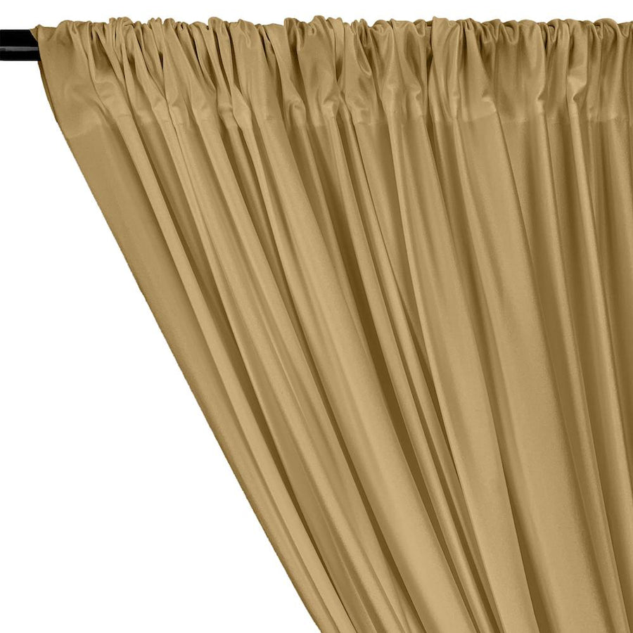 Shiny Milliskin Rod Pocket Curtains - Khaki