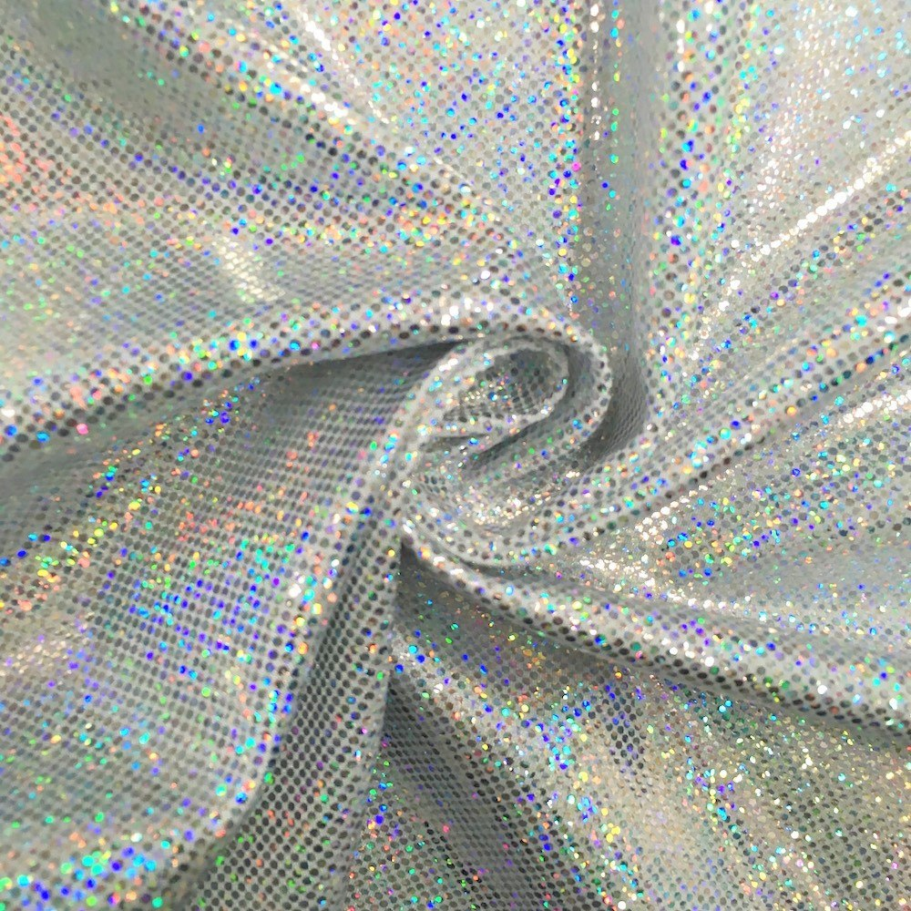 Nylon Spandex Hologram Dot Fabric 60 Quot Wide 11 99 Bty