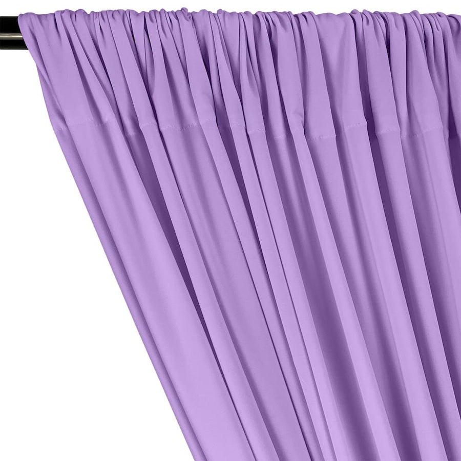 ITY Knit Stretch Jersey Rod Pocket Curtains - Lavender