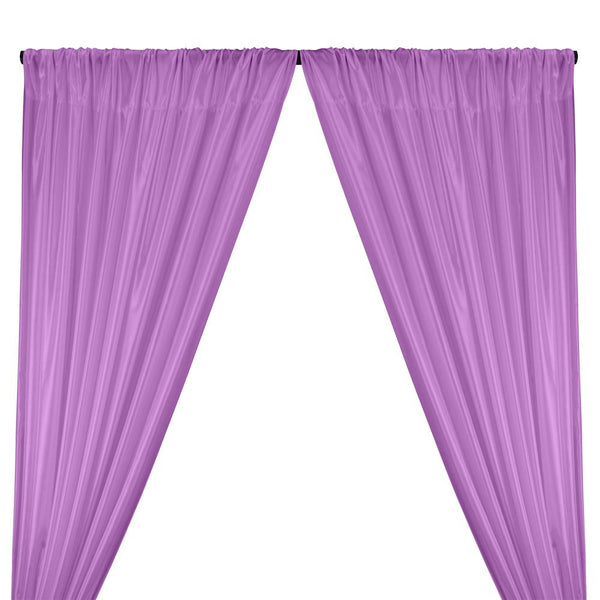 Poly China Silk Lining Rod Pocket Curtains - Lavender
