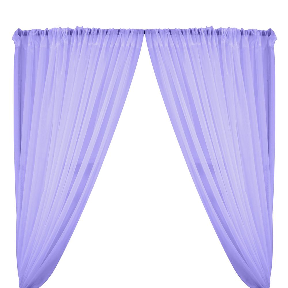 Sheer Voile Rod Pocket Curtains - Lavender