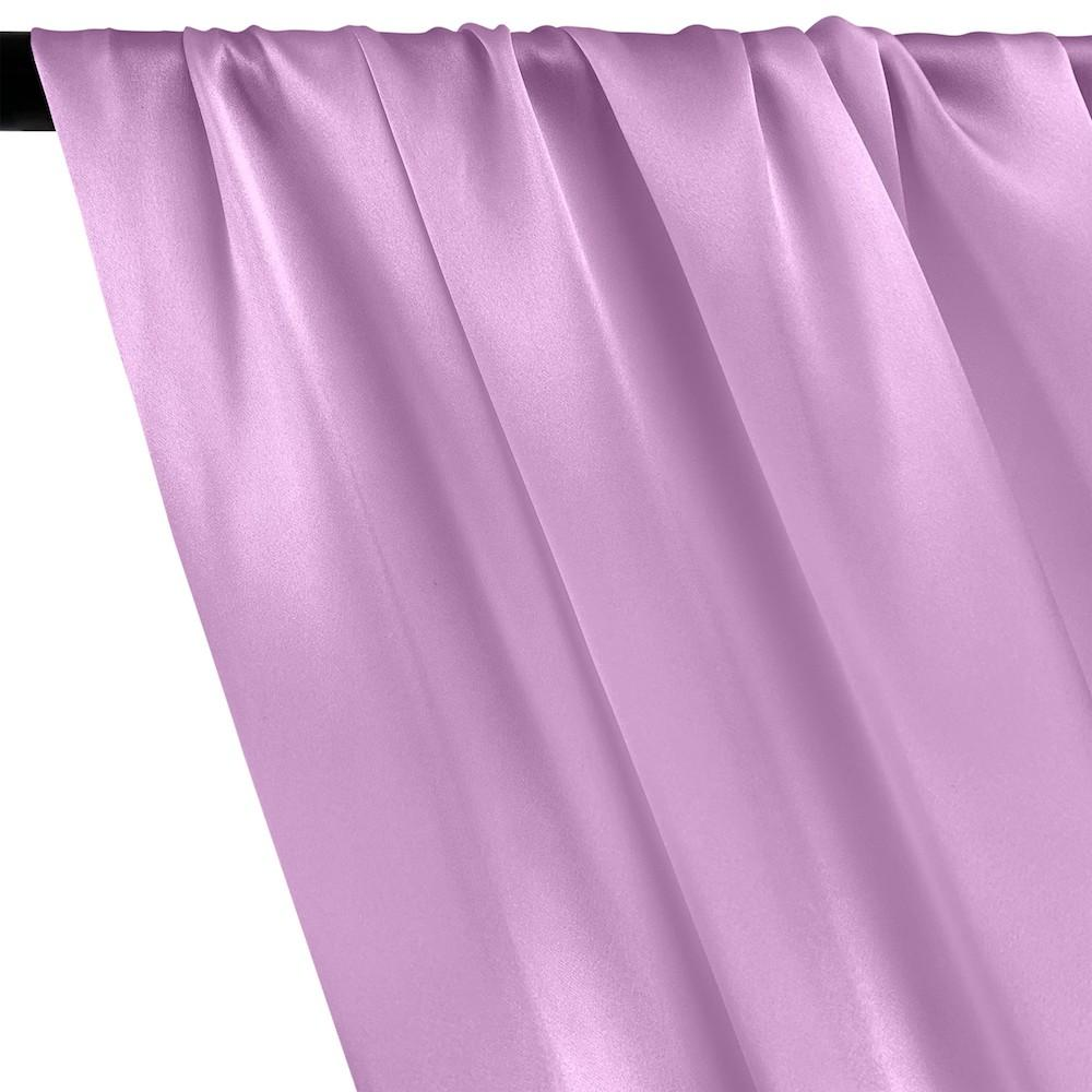 Silk Charmeuse Rod Pocket Curtains - Lavender