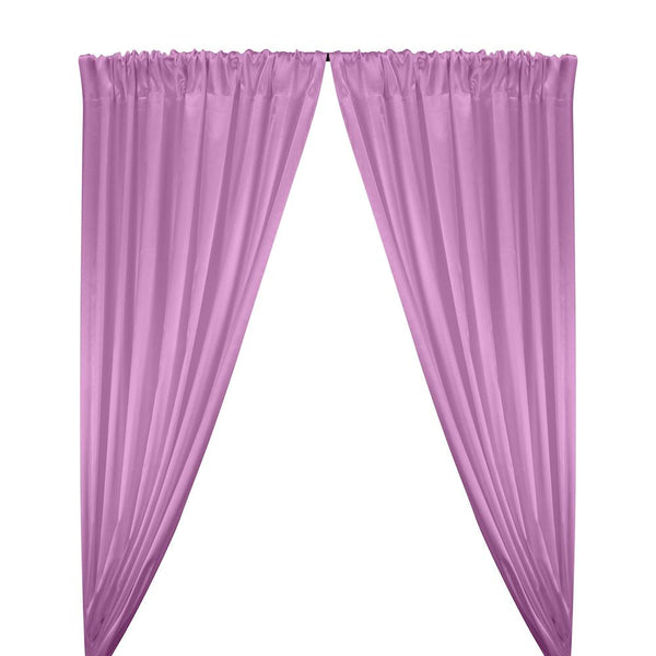 Stretch Charmeuse Satin Rod Pocket Curtains - Lavender