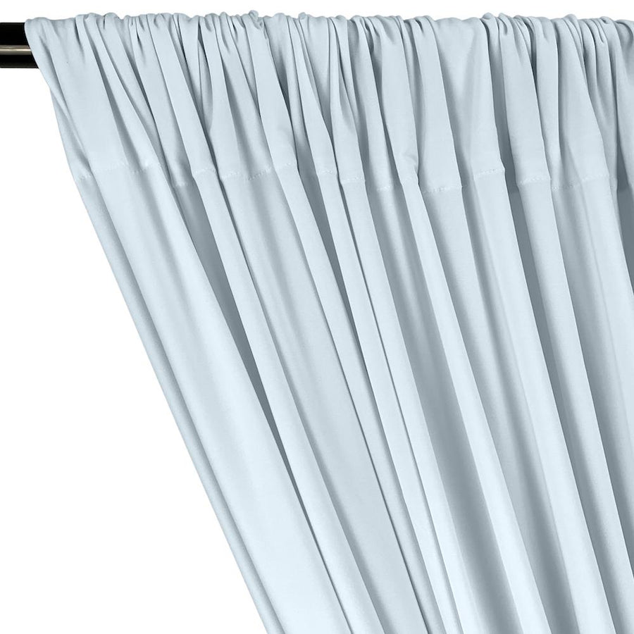 ITY Knit Stretch Jersey Rod Pocket Curtains - Light Blue
