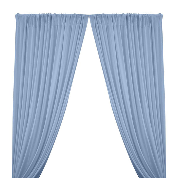 Matte Milliskin Rod Pocket Curtains - Light Blue