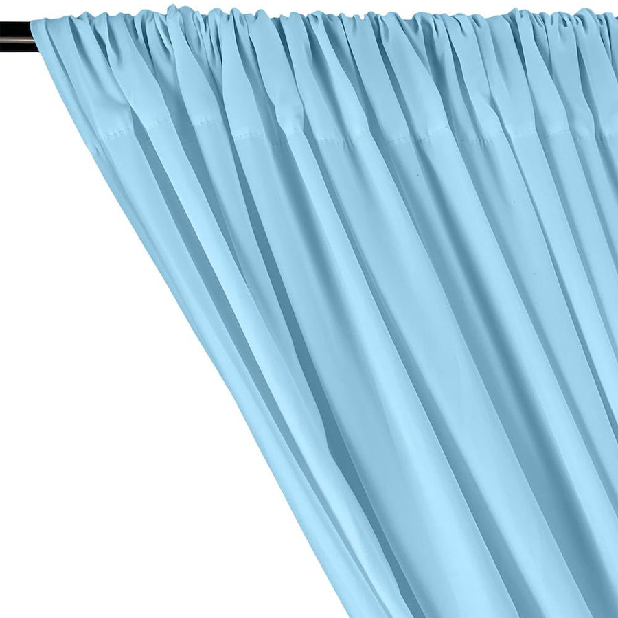 Peachskin Rod Pocket Curtains - Light Blue