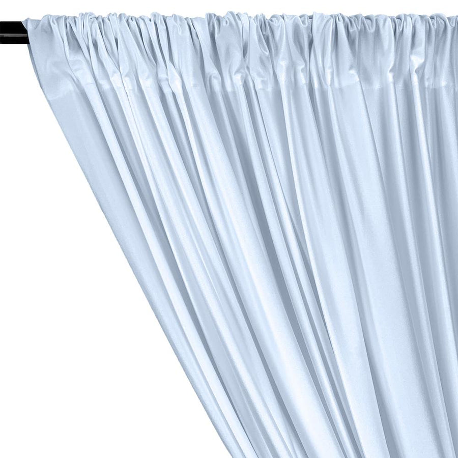 Shiny Milliskin Rod Pocket Curtains - Light Blue
