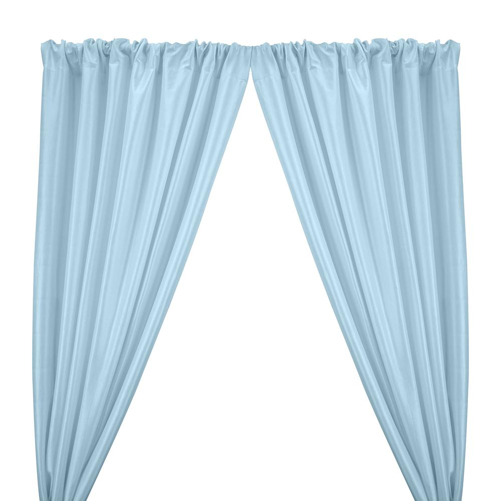 Stretch Taffeta Rod Pocket Curtains - Light Blue