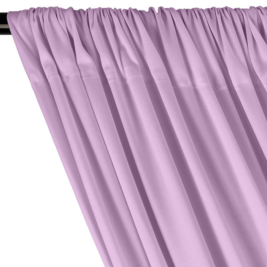 Interlock Knit Rod Pocket Curtains - Lilac