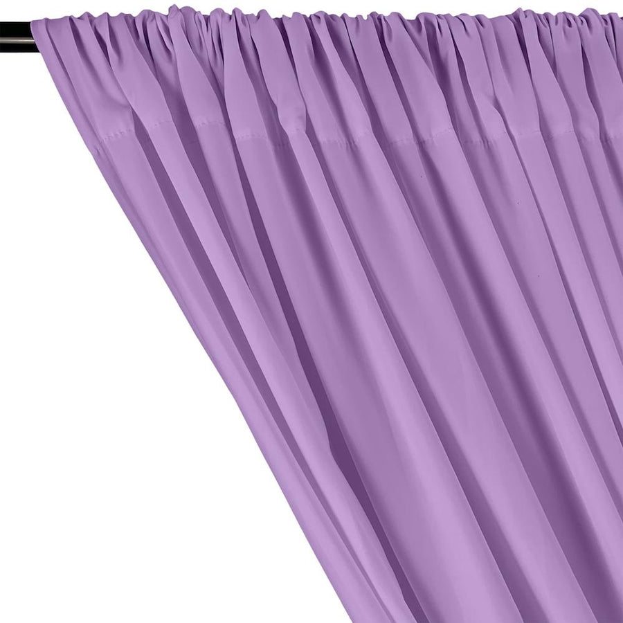 Peachskin Rod Pocket Curtains - Lilac