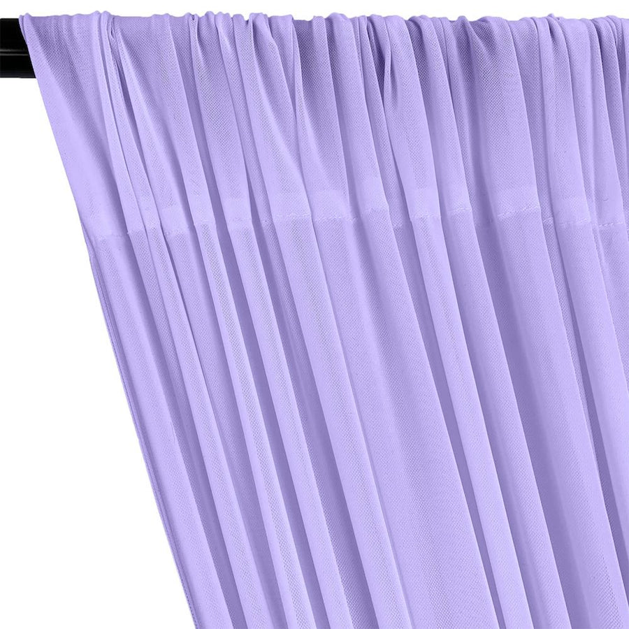 Power Mesh Rod Pocket Curtains - Lilac