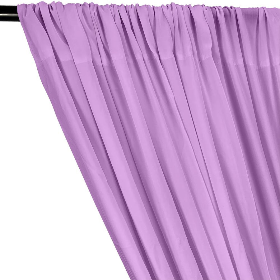 Rayon Challis Rod Pocket Curtains - Lilac