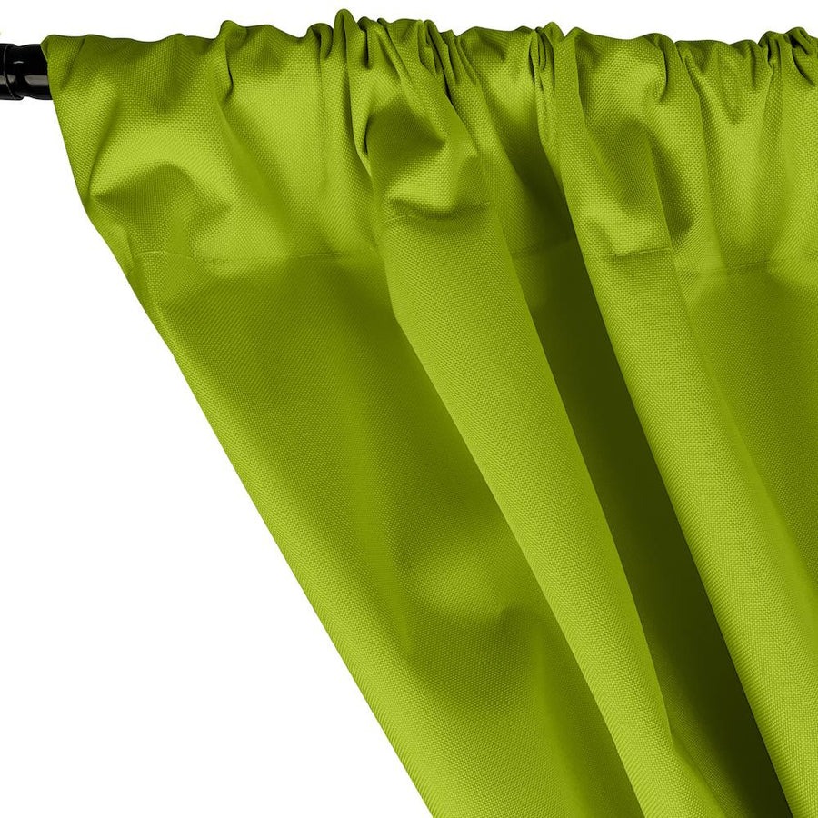 Ottertex® Canvas Waterproof Rod Pocket Curtains - Lime Green