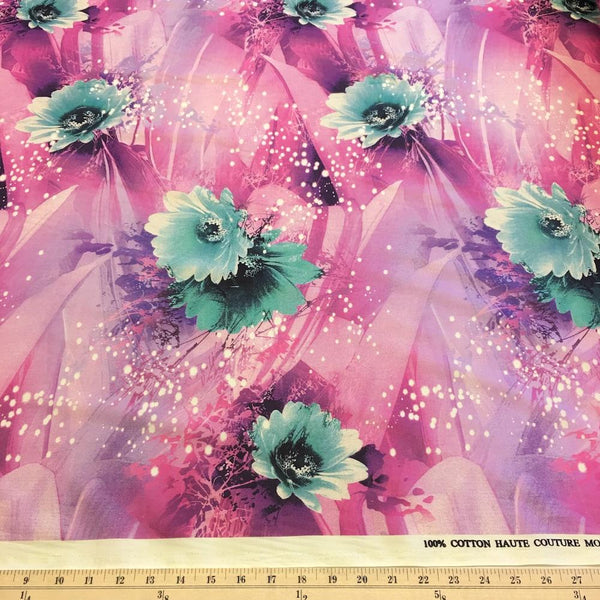 Lisa Pink Printed Cotton Fabric