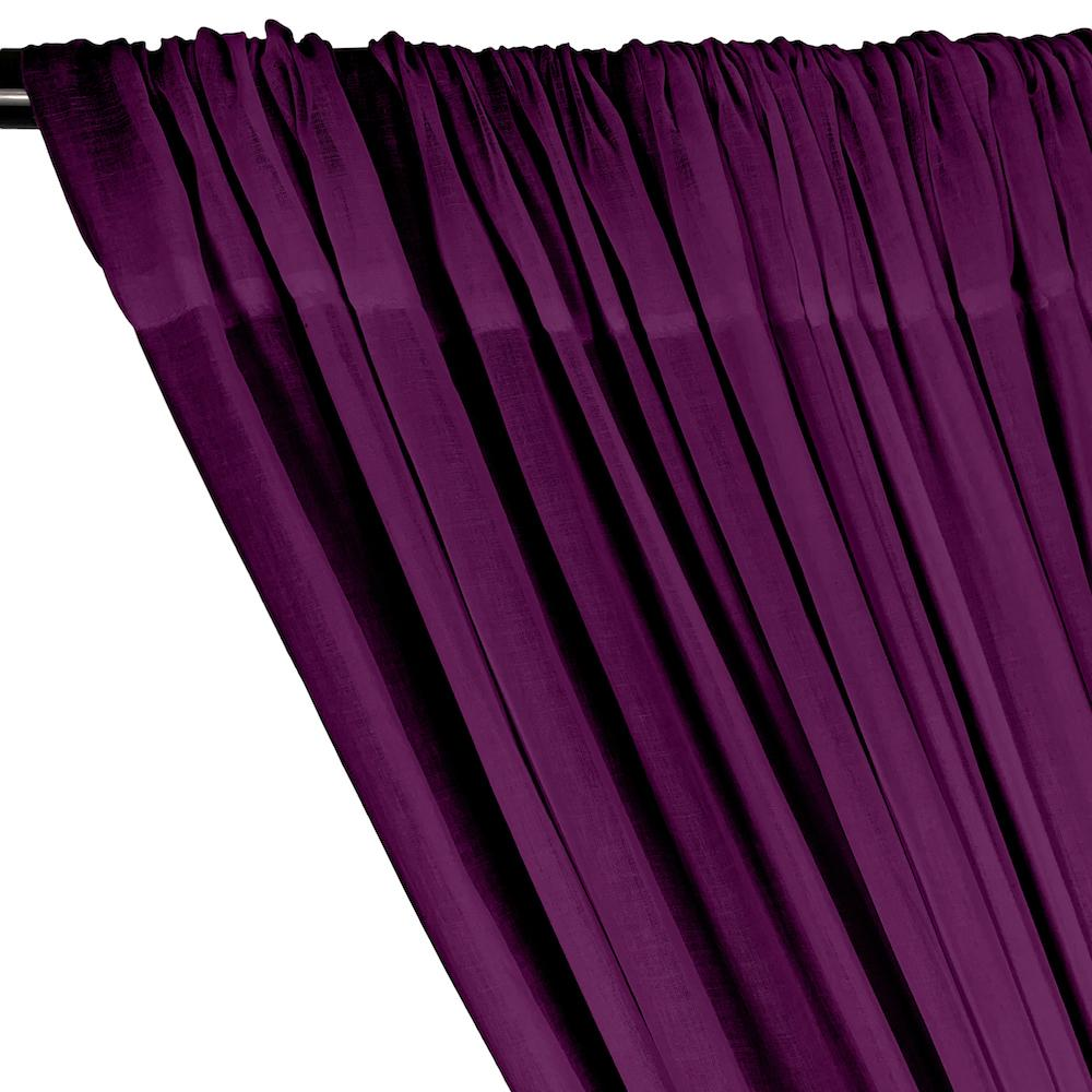 Cotton Voile Rod Pocket Curtains - Magenta