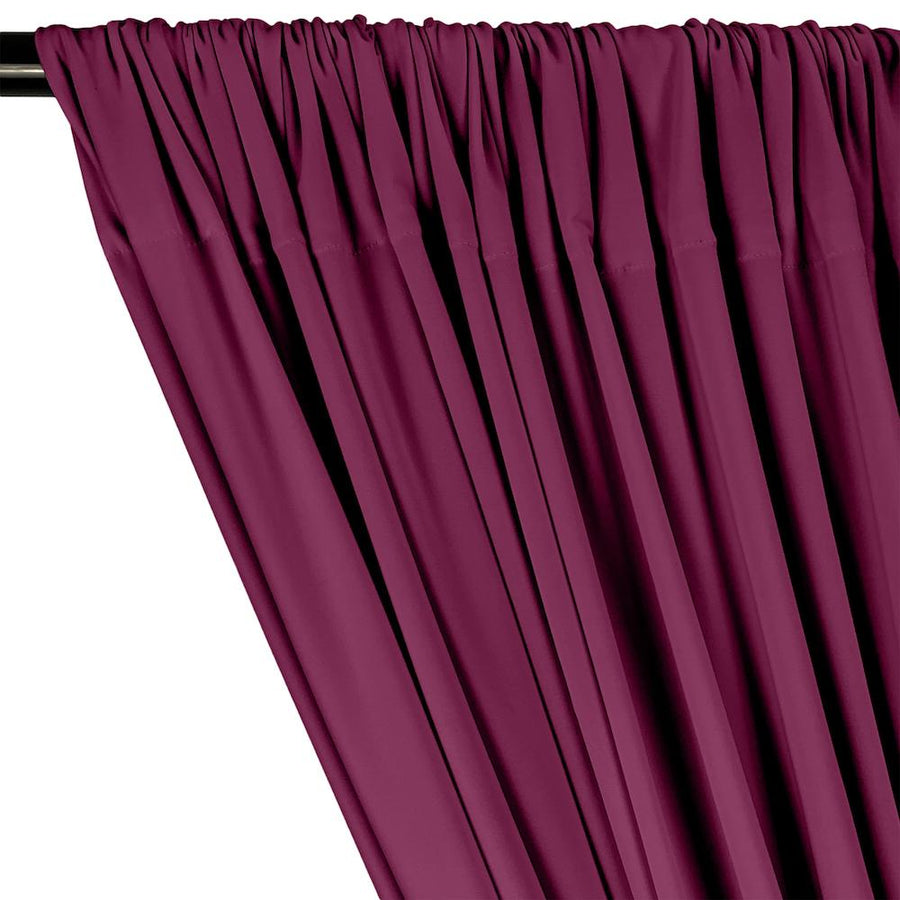 ITY Knit Stretch Jersey Rod Pocket Curtains - Magenta