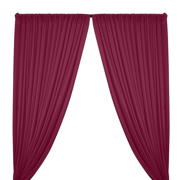 Interlock Knit Rod Pocket Curtains - Magenta