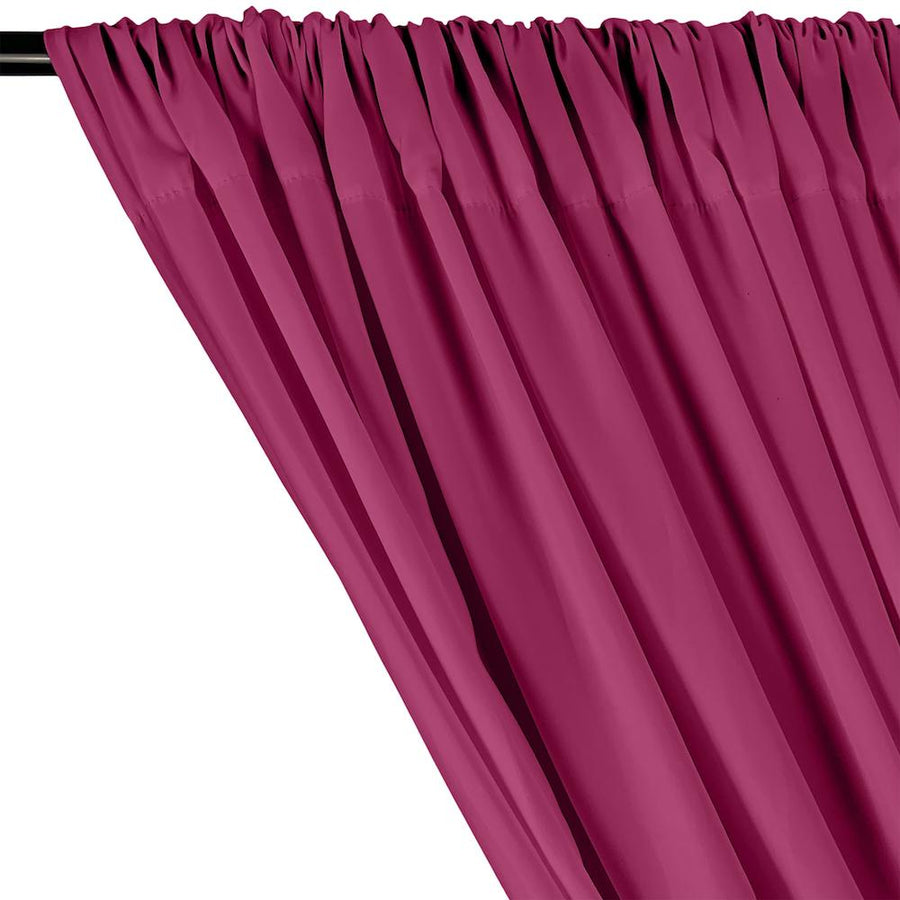 Peachskin Rod Pocket Curtains - Magenta